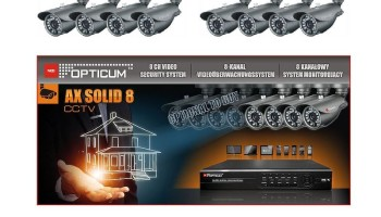 Nadzorni sustav 4xCam + DVR 8CH AX Solid 8